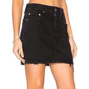 Lovers + Friends Black Denim Skirt